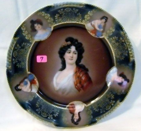 7: Hand-painted Bavaria Portrait Plate