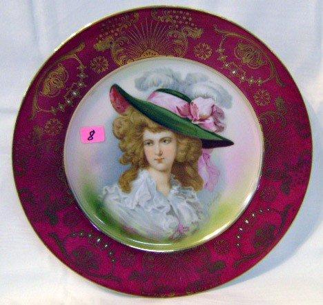 8: Hand-painted Schwarzburg Portrait Plate