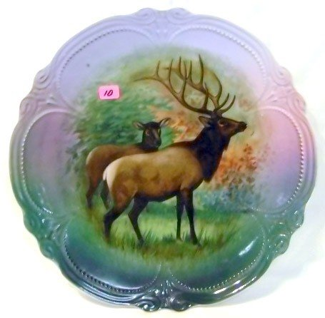 10: Hand-painted Elk Charger