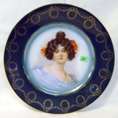 21: Hand-painted Portrait Plate