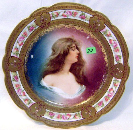 22: Hand-painted Portrait Plate
