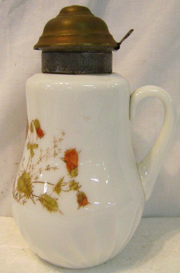 22: HP Victorian Opal Glass Syrup Pitcher