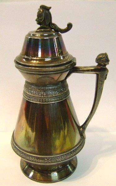Silver-plate Victorian Syrup Pitcher