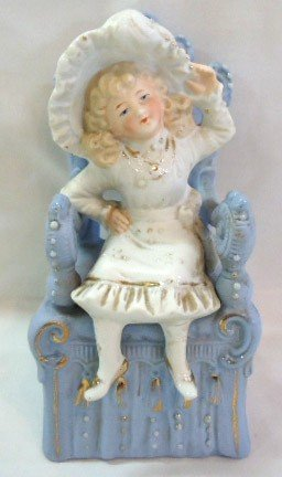 7: Victorian Bisque Girl in Chair