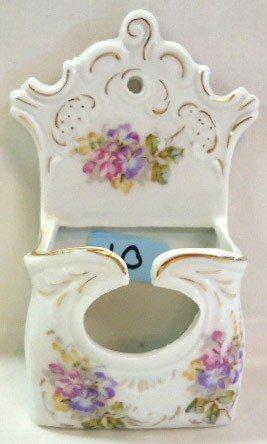 10: H.P. Porcelain Wall Match Holder