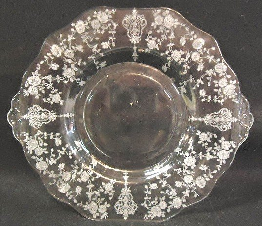 17: Signed Cambridge Etched Plate