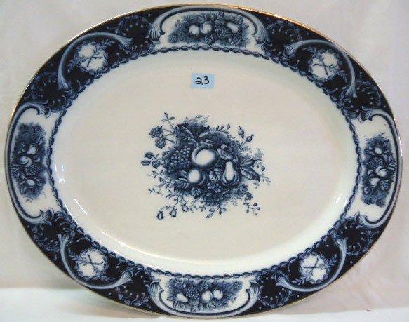 """23: Large Flow Blue Platter """"Berkeley"""" Pattern"""
