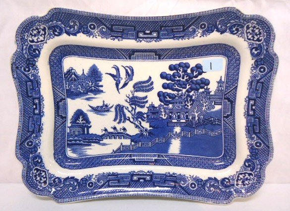 1: Blue Willow Platter