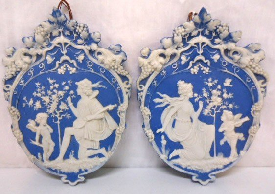 4: Pr. German Jasperware Plaques
