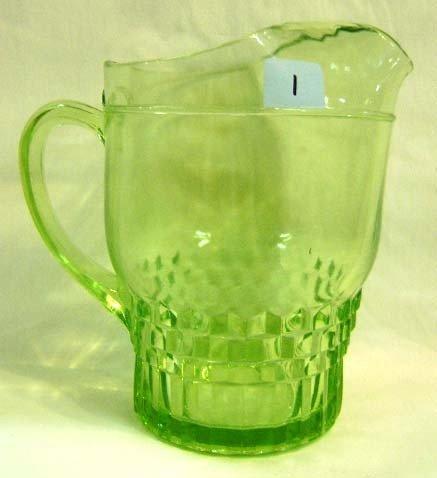 1: Uranium Glass Pitcher