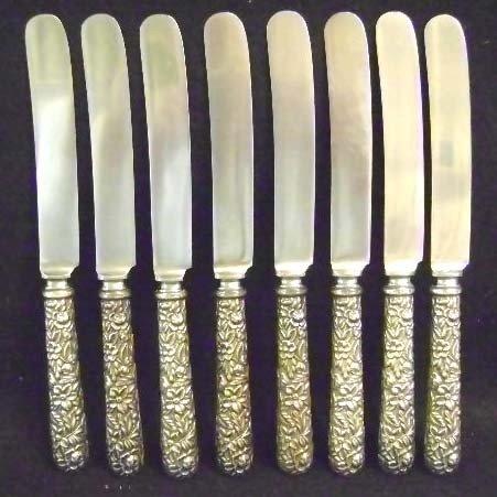 12: 8 Kirk & Sons Sterling Dinner Knives