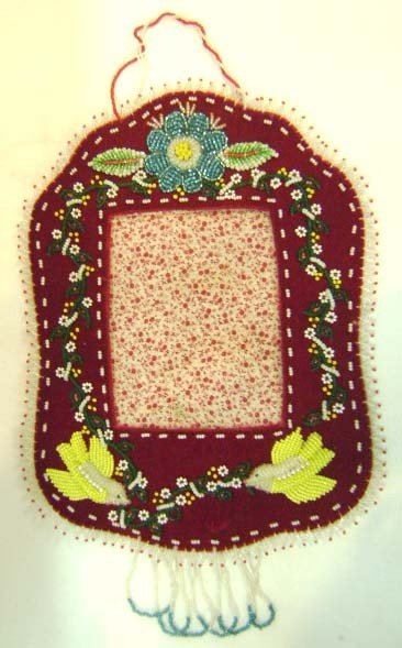 20: Victorian Beadwork Picture Frame
