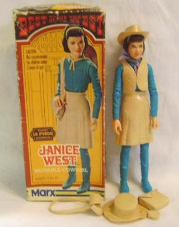 22: Marx Janice West Moveable Cowgirl w/ Box