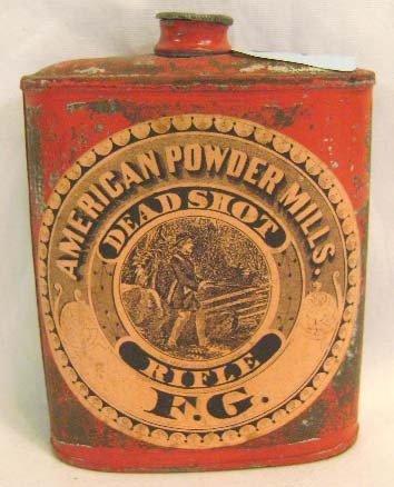 34: American Powder Mills Black Powder Tin Can