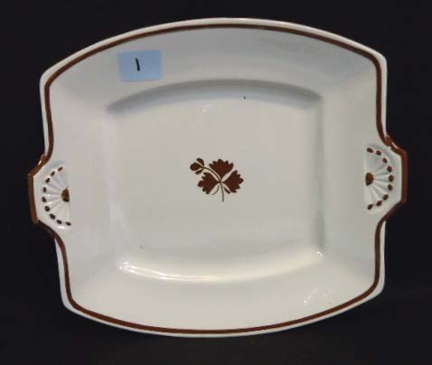 1: Ironstone Tea Leaf Serving Plate