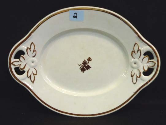 2: Ironstone Tea Leaf Serving Plate