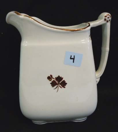 4: Ironstone Tea Leaf Pitcher