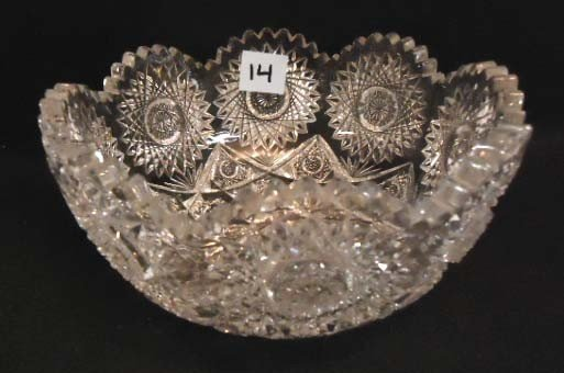 14: Victorian Brilliant Cut Glass Bowl