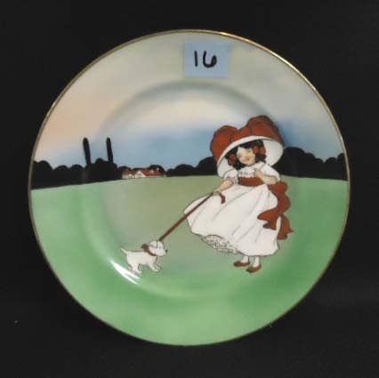 16: HP Royal Bayreuth Plate w/ Child & Dog
