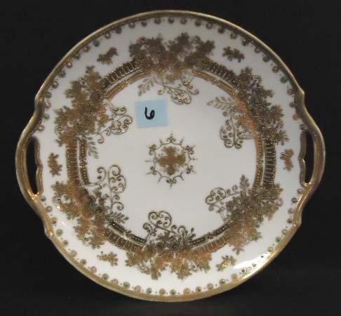 6: HP Nippon Cake Plate, Heavy Gold