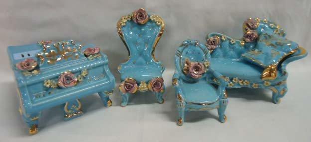 11: 5 Pc. Porcelain Doll Furniture