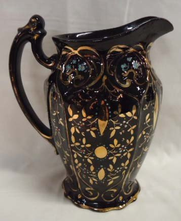 12: Pitcher w/ Gold & Enameled Flowers