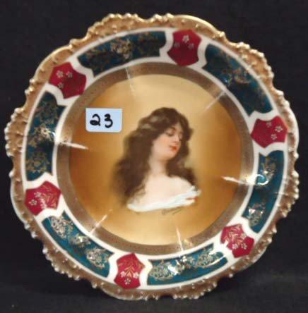 23: Royal Vienna Portrait Plate