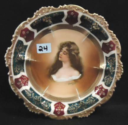24: Royal Vienna Portrait Plate