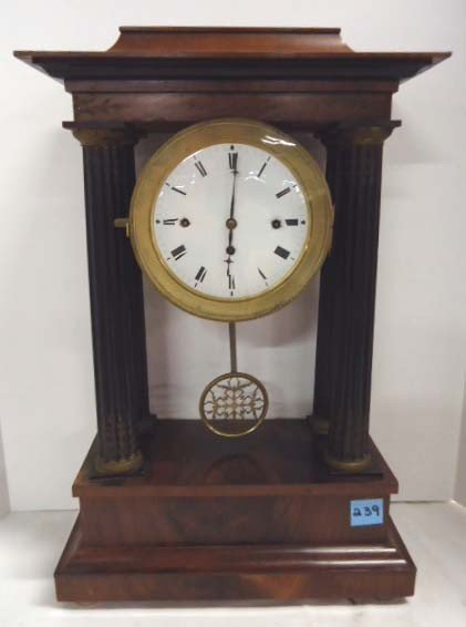 239: French Open Swing Carriage Clock Westminster Chime
