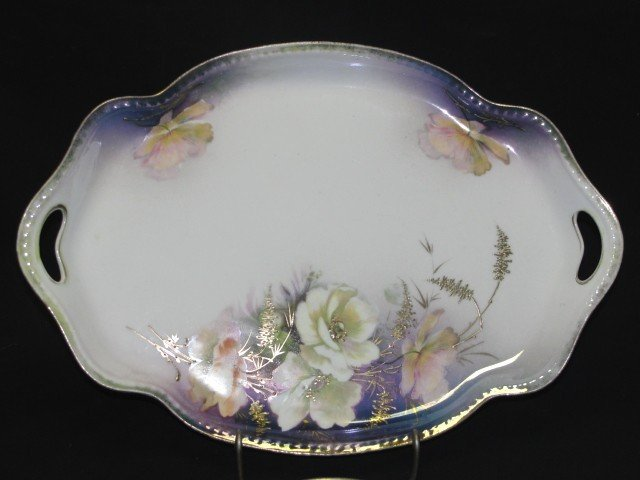 3: Red Star R.S. Prussia Floral Decorated Tray