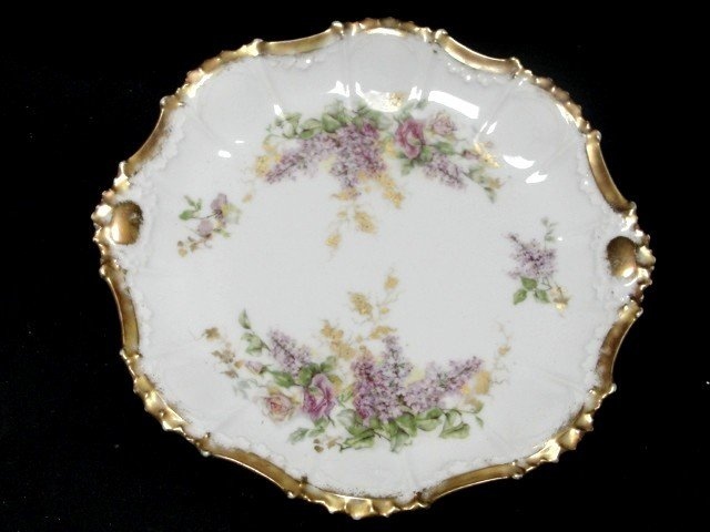 4: Limoges Plate Decorated With Lilac And Roses