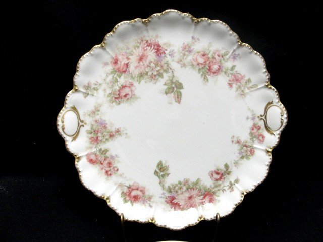 6: Haviland Limoges Floral Decorated Charger With