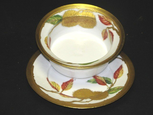 8: Limoges France  Mush Bowl And Under Plate