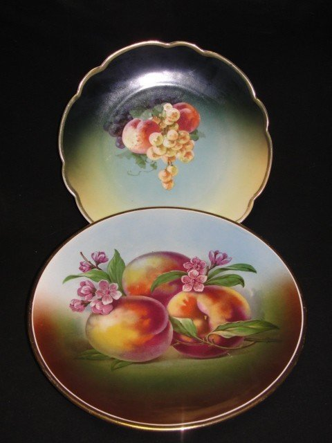 20: Two Germany Hand Painted Plates  With Peaches