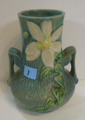 """1: Roseville Vase 106-7"""""""
