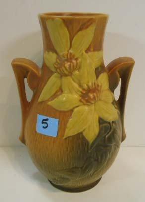 """5: Roseville Vase 108-8"""""""