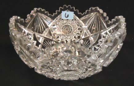 6: Victorian Brilliant Cut Glass Bowl