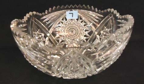 7: Victorian Brilliant Cut Glass Bowl