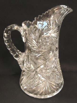 8: Victorian Brilliant Cut Glass Pitcher