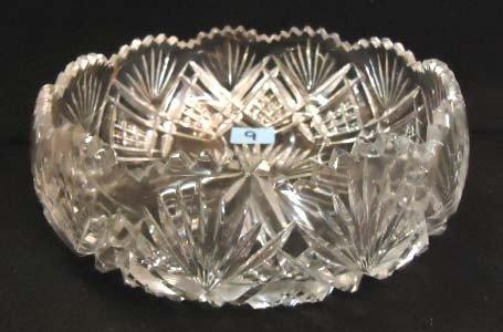9: Victorian Brilliant Cut Glass Bowl