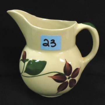 23: Watt's Pottery Pitcher, Flower