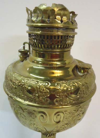 77: The Meteor Lamp Brass Banquet Lamp, Electrified - 2