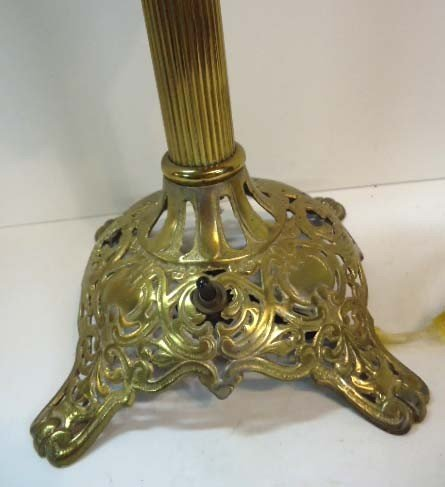 77: The Meteor Lamp Brass Banquet Lamp, Electrified - 3