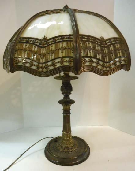 99: Slag Glass Panel Lamp