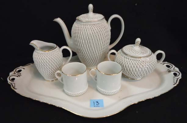 13: Romamerica 6 Pc. Porcelain Tea Service