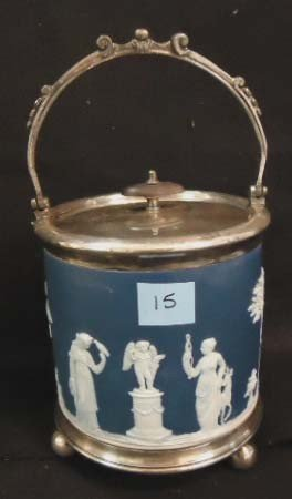 15: Wedgwood Jasperware Biscuit Barrel