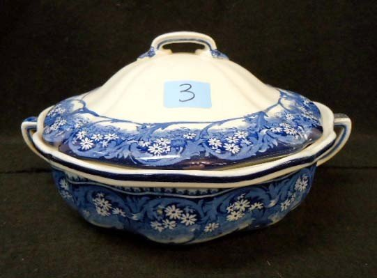 3: Royal Doulton Flow Blue Covered Dish