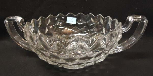 15: Fostoria American Double Handle Bowl