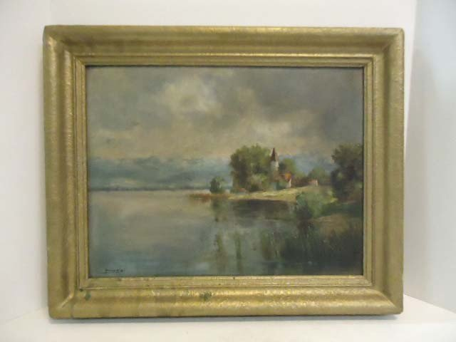 287: Oil on Canvas Painting Signed Felix Kiby