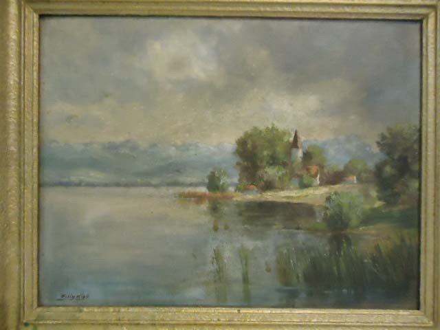 287: Oil on Canvas Painting Signed Felix Kiby - 2